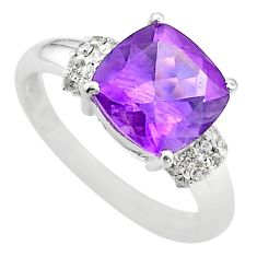 925 silver 5.79cts solitaire natural purple amethyst topaz ring size 9 t43184