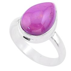 925 silver 6.28cts solitaire natural purple phosphosiderite ring size 8 t28104