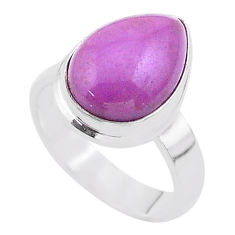 925 silver 6.11cts solitaire natural purple phosphosiderite ring size 6.5 t28090
