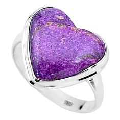 925 silver 8.51cts solitaire natural purpurite stichtite ring size 9 t15612
