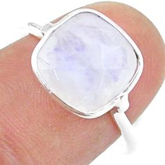 925 silver 4.93cts solitaire natural rainbow moonstone ring size 7 t50757
