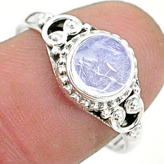 925 silver 2.45cts solitaire natural rainbow moonstone ring size 8 t6590