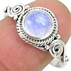 925 silver 2.56cts solitaire natural rainbow moonstone ring size 9 t6568