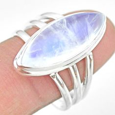 925 silver 13.36cts solitaire natural rainbow moonstone ring size 8.5 t29223