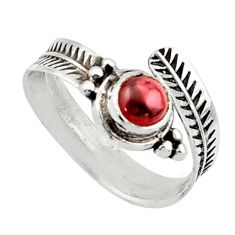 925 silver 0.98cts solitaire natural red garnet adjustable ring size 7 r40769