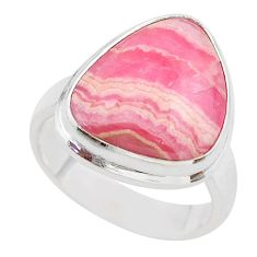 925 silver 10.84cts solitaire natural rhodochrosite inca rose ring size 7 t28928