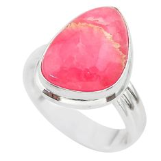 925 silver 9.94cts solitaire natural rhodochrosite inca rose ring size 7 t28940
