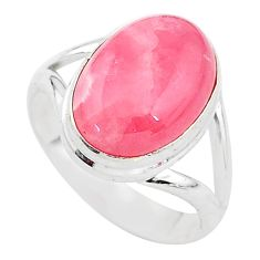 925 silver 6.33cts solitaire natural rhodochrosite inca rose ring size 7 t3477