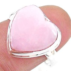925 silver solitaire natural scolecite high vibration crystal ring size 9 t15619