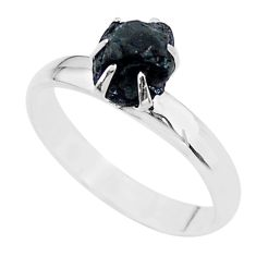 925 silver 4.29cts solitaire natural tourmaline raw fancy ring size 8 t21072