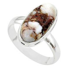 925 silver 9.33cts solitaire natural wild horse magnesite ring size 10 t38997
