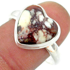 925 silver 6.36cts solitaire natural wild horse magnesite ring size 10 t55113