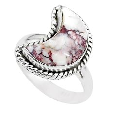 925 silver 5.53cts moon natural wild horse magnesite ring size 7 t22148