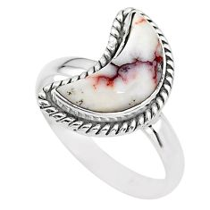 925 silver 5.75cts moon natural wild horse magnesite ring size 9 t22153