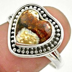 925 silver 5.54cts solitaire natural wild horse magnesite ring size 8.5 t41648