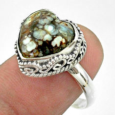 925 silver 6.58cts solitaire natural wild horse magnesite ring size 8.5 t55904
