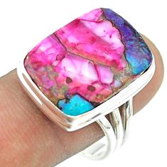 925 silver 15.85cts solitaire spiny oyster arizona turquoise ring size 10 t54191