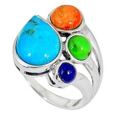 925 silver southwestern arizona sleeping beauty turquoise ring size 6 c10365