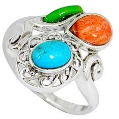 925 silver southwestern arizona sleeping beauty turquoise ring size 6 c10366