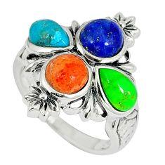 925 silver southwestern arizona sleeping beauty turquoise ring size 7 c10350
