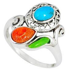 925 silver southwestern arizona sleeping beauty turquoise ring size 8 c10368