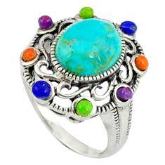 925 silver southwestern blue sleeping beauty turquoise ring size 6 c25961