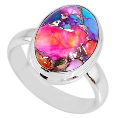 925 silver 5.95cts spiny oyster arizona turquoise solitaire ring size 7 r62756