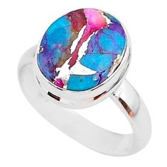 925 silver 5.23cts spiny oyster arizona turquoise solitaire ring size 7 r93385