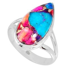 925 silver 8.22cts spiny oyster arizona turquoise solitaire ring size 9 r62699