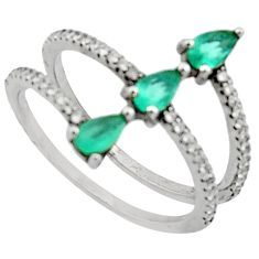 925 sterling silver 3.03cts aqua chalcedony topaz ring size 7 c9439