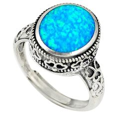 925 sterling silver australian opal (lab) adjustable ring size 8 a73629 c24427