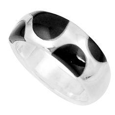925 sterling silver 6.48gms black onyx enamel ring size 6.5 a91996 c13217