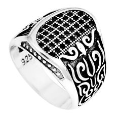 925 sterling silver black topaz mens ring jewelry size 10.5 c11339
