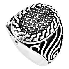 925 sterling silver 2.11cts black topaz mens ring jewelry size 9 c11334