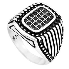 2.11cts black topaz round 925 sterling silver mens ring jewelry size 9.5 c11305