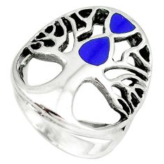 925 sterling silver blue lapis lazuli tree of life ring jewelry size 7 c11913