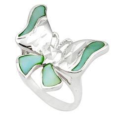 925 sterling silver blue pearl enamel ring jewelry size 8 a69617 c13508