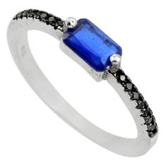 925 sterling silver 1.82cts blue sapphire (lab) topaz ring size 6.5 c9444