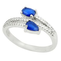 925 sterling silver blue sapphire quartz topaz ring jewelry size 9 c19285