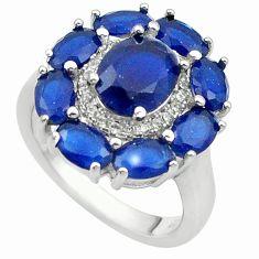 925 sterling silver blue sapphire quartz topaz ring jewelry size 9 c20075