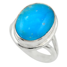 925 sterling silver 10.57cts blue smithsonite solitaire ring size 7.5 r28499