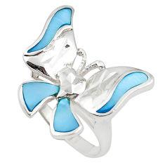 925 sterling silver blue topaz enamel ring jewelry size 8 a69630 c13505