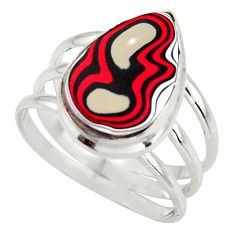925 sterling silver 8.45cts fordite detroit agate solitaire ring size 10 d47430