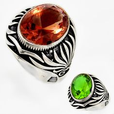 925 sterling silver 9.93cts green alexandrite (lab) mens ring size 10 c26280