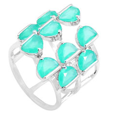 925 sterling silver green chalcedony adjustable ring jewelry size 5 c19183