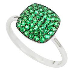 925 sterling silver green emerald quartz ring jewelry size 5.5 c26037