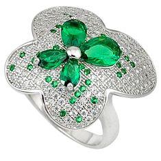 925 sterling silver green russian nano emerald topaz ring jewelry size 7 c23709
