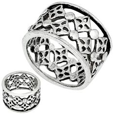 925 sterling silver indonesian bali style solid band ring size 6.5 c20961