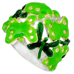 925 sterling silver multi color enamel butterfly ring jewelry size 5.5 c16064