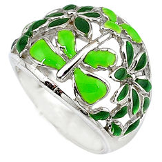 925 sterling silver multi color enamel dragonfly ring jewelry size 6.5 c16265